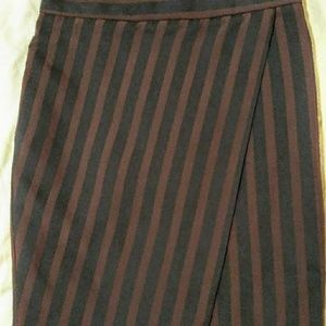 Size 00 J.Crew striped crossover pencil skirt